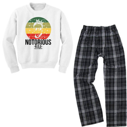Ruth Bader Ginsburg Youth Sweatshirt Pajama Set Designed By Tht