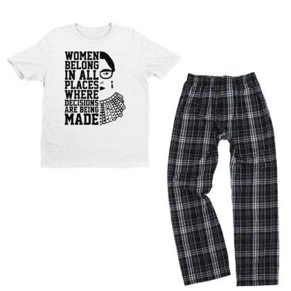 Notorious  Ruth Bader Ginsburg Youth T-shirt Pajama Set Designed By Tht