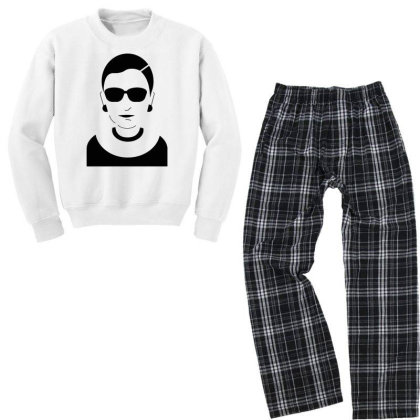 Notorious  Ginsburg Youth Sweatshirt Pajama Set Designed By Tht
