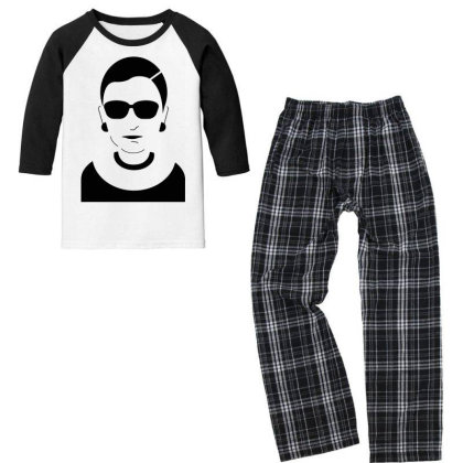 Notorious  Ginsburg Youth 3/4 Sleeve Pajama Set Designed By Tht
