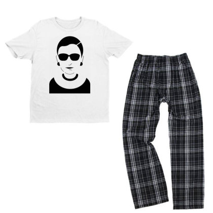 Notorious  Ginsburg Youth T-shirt Pajama Set Designed By Tht