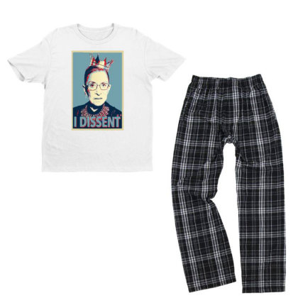 Notorious Rbg   I Dissent Youth T-shirt Pajama Set Designed By Tht