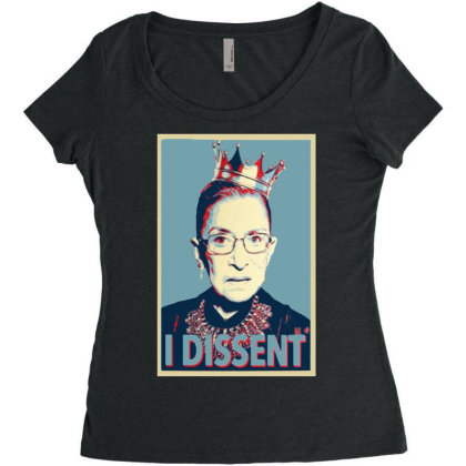 Notorious Rbg   I Dissent Women's Triblend Scoop T-shirt Designed By Tht