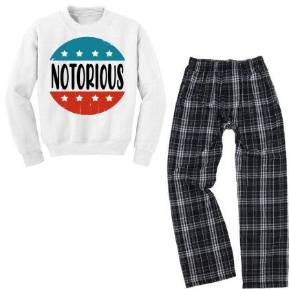 Notorious Rbg Vintage Youth Sweatshirt Pajama Set Designed By Tht