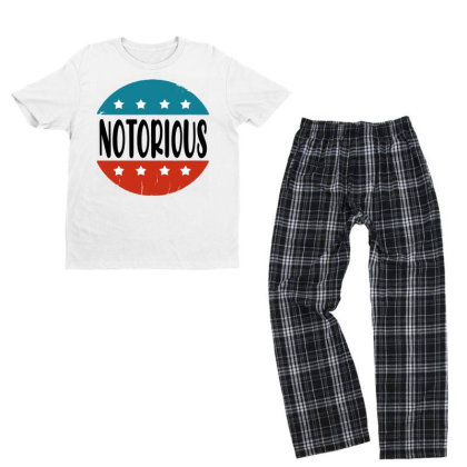 Notorious Rbg Vintage Youth T-shirt Pajama Set Designed By Tht