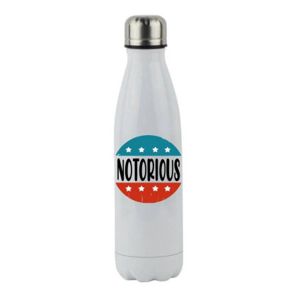 Notorious Rbg Vintage Stainless Steel Water Bottle Designed By Tht