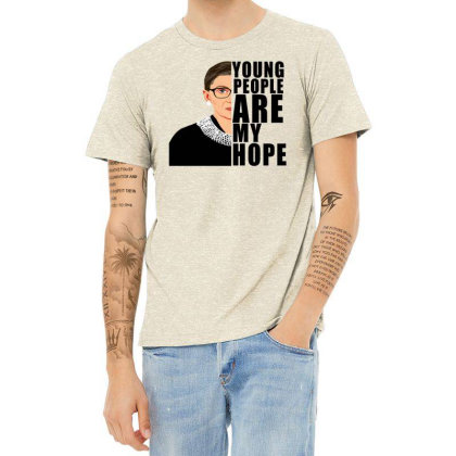 Ruth Bader Ginsburg Young People Are My Hope Heather T-shirt Designed By Alparslan Acar
