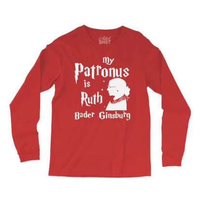 My Patronus Is Ruth Bader Ginsburg Long Sleeve Shirts Designed By Tht