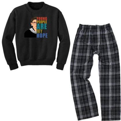 Young People Are My Hope Youth Sweatshirt Pajama Set Designed By Alparslan Acar