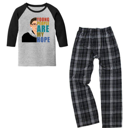 Young People Are My Hope Youth 3/4 Sleeve Pajama Set Designed By Alparslan Acar