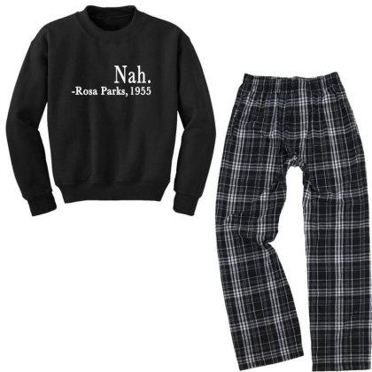 Nah Rosa Parks Youth Sweatshirt Pajama Set Designed By Alparslan Acar