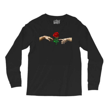 Hand Rose Long Sleeve Shirts Designed By Alparslan Acar