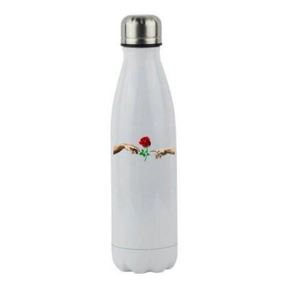 Hand Rose Stainless Steel Water Bottle Designed By Alparslan Acar
