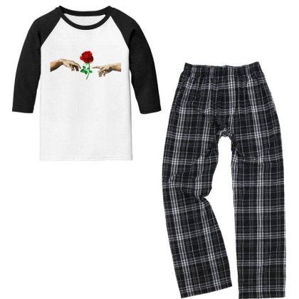 Hand Rose Youth 3/4 Sleeve Pajama Set Designed By Alparslan Acar