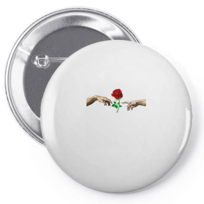 Hand Rose Pin-back Button Designed By Alparslan Acar
