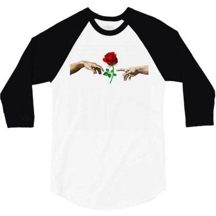 Hand Rose 3/4 Sleeve Shirt Designed By Alparslan Acar