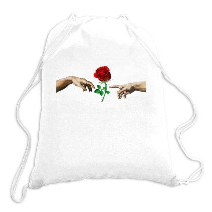 Hand Rose Drawstring Bags Designed By Alparslan Acar