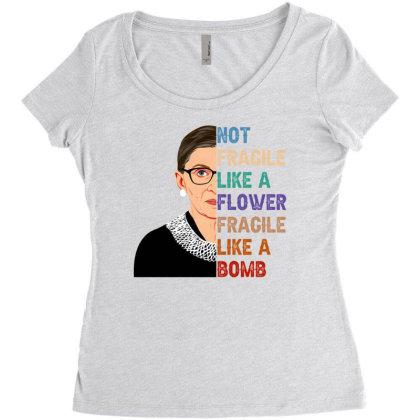 Not Fragile Like A Flowerr Fragile Like Bomb Women's Triblend Scoop T-shirt Designed By Sengul