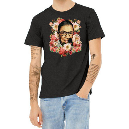 Ruth Bader Ginsburg Notorious Rbg Flower Heather T-shirt Designed By Sengul