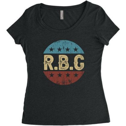 Rbg Notorius Women's Triblend Scoop T-shirt Designed By Sengul