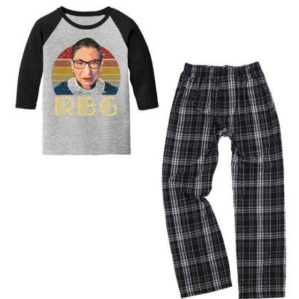 Vintage Rbg Ruth Bader Youth 3/4 Sleeve Pajama Set Designed By Sengul