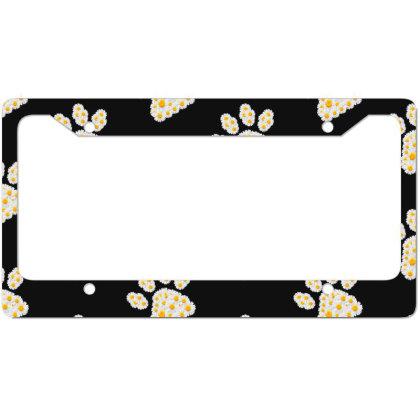 Daisy Flower Paw License Plate Frame Designed By Sengul