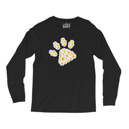Daisy Flower Paw Long Sleeve Shirts Designed By Sengul