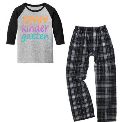 I Love My Kindergarten Youth 3/4 Sleeve Pajama Set Designed By Sengul