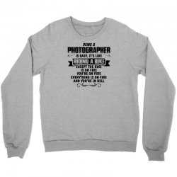 being a photographer copy Crewneck Sweatshirt | Artistshot