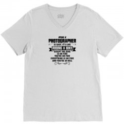 being a photographer copy V-Neck Tee | Artistshot