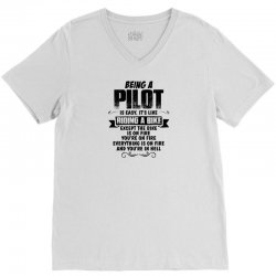 being a pilot copy V-Neck Tee | Artistshot