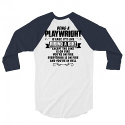 being a playwright copy 3/4 Sleeve Shirt | Artistshot