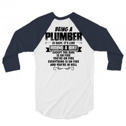being a plumber copy 3/4 Sleeve Shirt | Artistshot