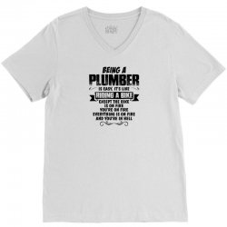 being a plumber copy V-Neck Tee | Artistshot