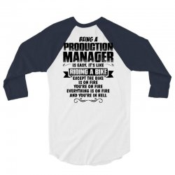 being a production manager copy 3/4 Sleeve Shirt | Artistshot