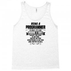 being a programmer copy Tank Top | Artistshot