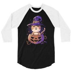 Spooky Kitty Funny Cute Magic Halloween 3/4 Sleeve Shirt | Artistshot