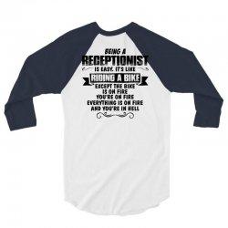 being a receptionist copy 3/4 Sleeve Shirt | Artistshot