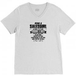 being a salesgirl copy V-Neck Tee | Artistshot