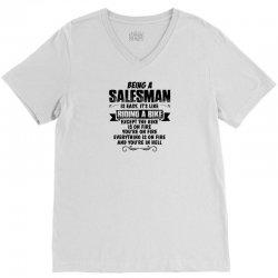 being a salesman copy V-Neck Tee | Artistshot