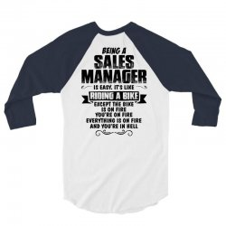 being a sales manager copy 3/4 Sleeve Shirt | Artistshot