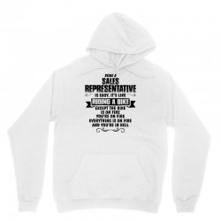 being a sales representative copy Unisex Hoodie | Artistshot