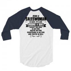 being a saleswoman copy 3/4 Sleeve Shirt | Artistshot