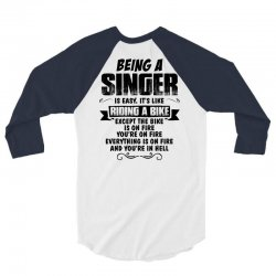 being a singer copy 3/4 Sleeve Shirt | Artistshot