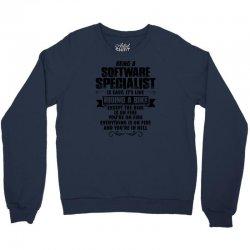 being a software specialist copy Crewneck Sweatshirt | Artistshot