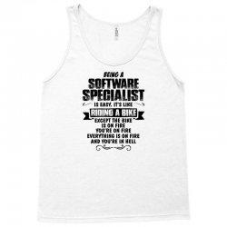 being a software specialist copy Tank Top | Artistshot