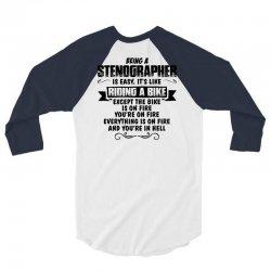 being a stenographer copy 3/4 Sleeve Shirt   Artistshot
