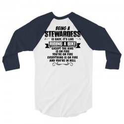 being a stewardess copy 3/4 Sleeve Shirt | Artistshot