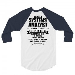 being a systems analyst copy 3/4 Sleeve Shirt | Artistshot