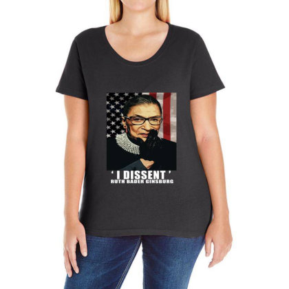 Notorious R.b.g. Funny Progressive, Liberal Ruth Bader Ginsburg Ladies Curvy T-shirt Designed By Alparslan Acar